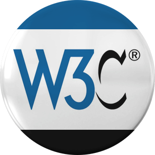 W3C logo on a badge