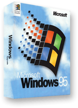 Box of Windows 95 software